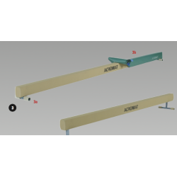 Balance Beam with 60mm high legs