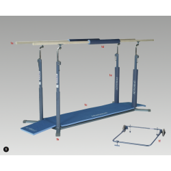 Parallel Bars - Olympic/F.I.G. Approved - Fibreglass Rails
